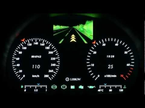 Librow automotive full-digital instrument cluster