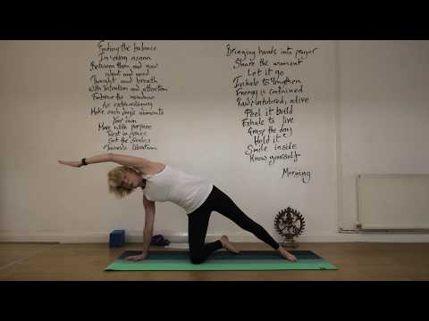 Vinyasa Flow leading to Anantasana (Sleeping Vishnu Pose)