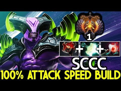 SCCC [Faceless Void] 100% Attack Speed Build Top 1 MMR Gameplay 7.22 Dota 2