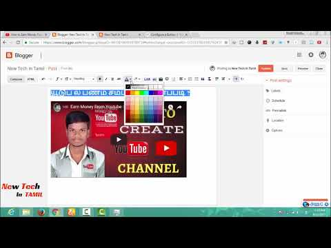 12, How To Post Youtube Videos on Your Blog - Earn Money From Blog - Blogger Tutorials in Tamil