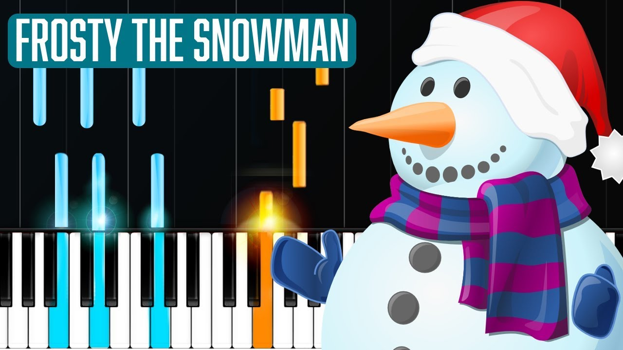 frosty the snowman piano tutorial chords how to play cover