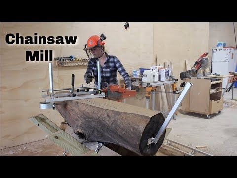 Portable Chainsaw Mill : How To Slab Logs