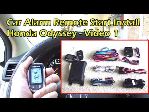 Install Car Alarm Remote Start - Wire Preparation - Honda ... on