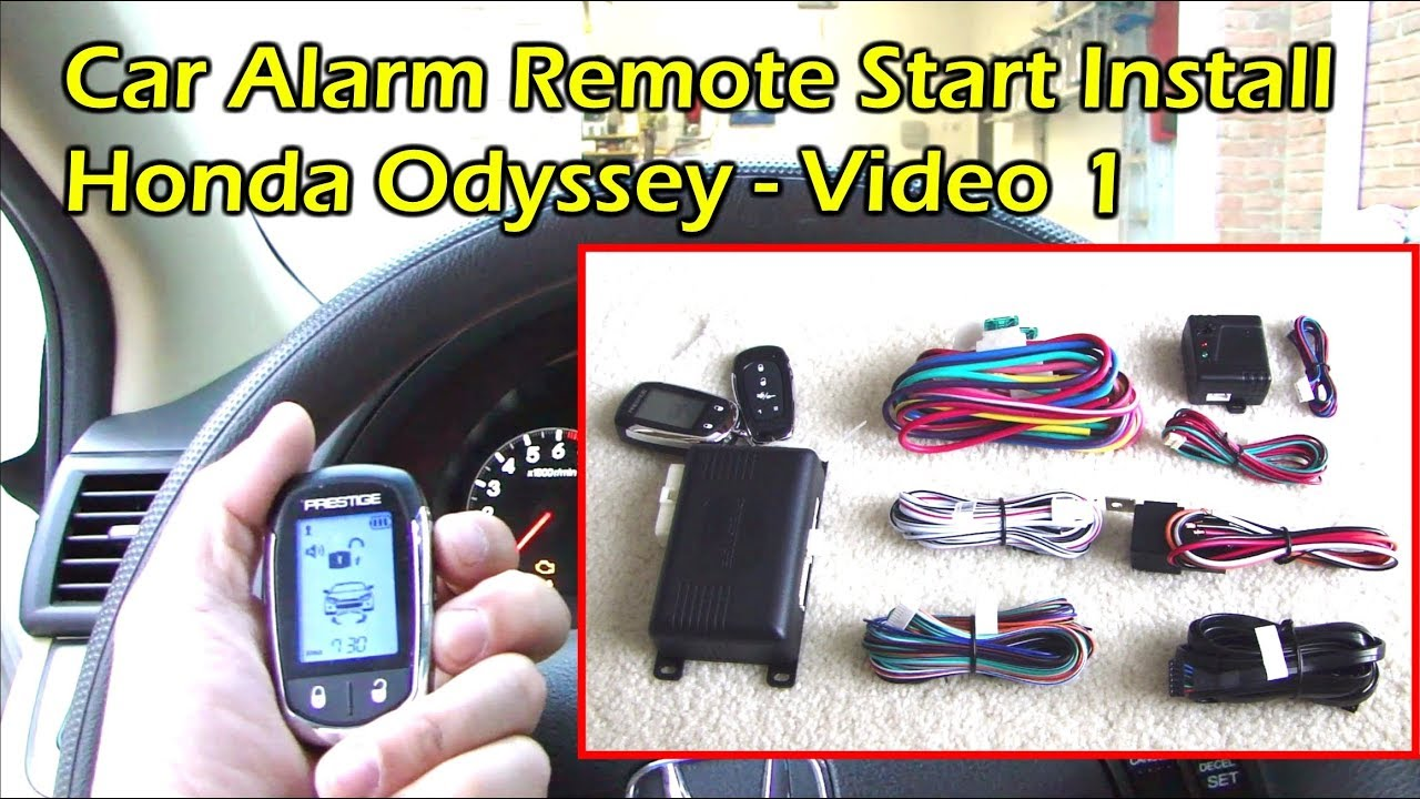 install car alarm remote start - wire preparation - honda odyssey (video 1)