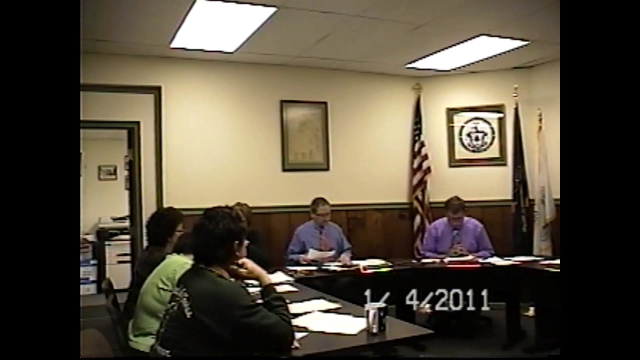 Champlain Village Board Meeting  1-4-11