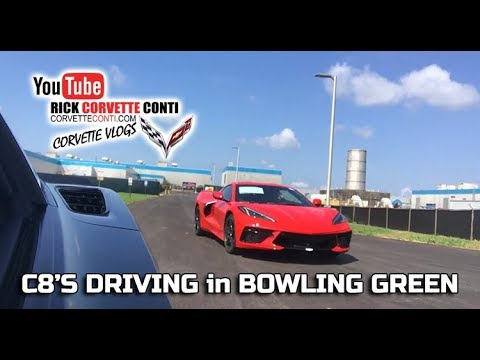 C8 CORVETTES DRIVING AT BOWLING GREEN ASSEMBLY PLANT 7.19.19