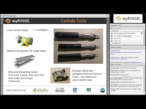 "Fall 2016 FOSSIL Project Webinar Series 1 - Webinar 4 - ""Fossil Preparation Basics"""