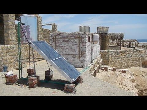 Solar powered solutions to Egypt's energy crises سخان طاقة شمسية شعبي