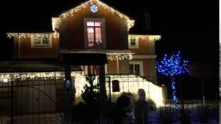 видео Новогодняя уличная подсветка фасада загородного дома: купить в Москве