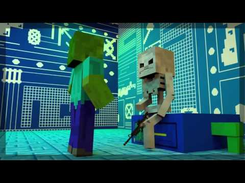 Minecraft animation skelegun zombie dexter and dee dee - Zombie style minecraft ...