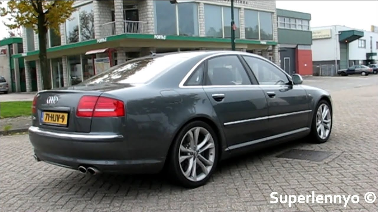 audi s8 v10 revving accelerating and drive youtube. Black Bedroom Furniture Sets. Home Design Ideas