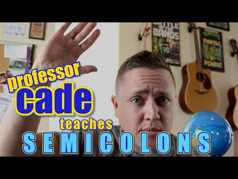 How to use SEMICOLONS | Writing with Professor Cade