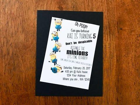 DIY Minion Birthday Party Invitation | Cricut Design Space