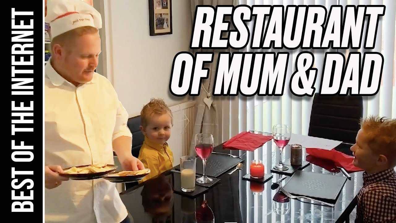 Parents Create A Lockdown Restaurant At Home For Their Kids | Best Of The Internet | LADbible