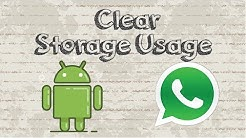 How to clear Whatsapp storage usage Android