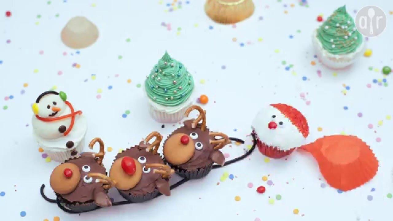 Jak zrobić babeczki świąteczne - Mikołaje