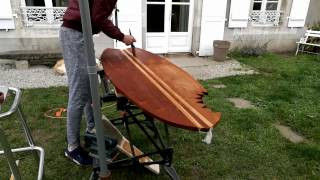MY SHARK BITE SURFBOARD TABLE