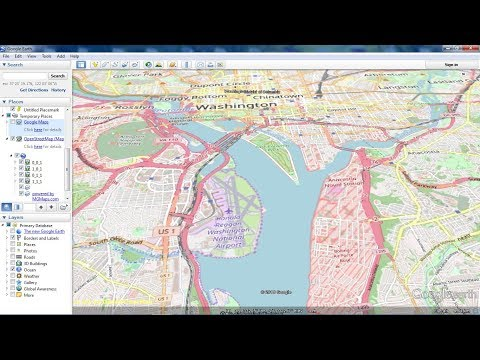 Google Map And OpenStreetMap As Overlays In Google Earth