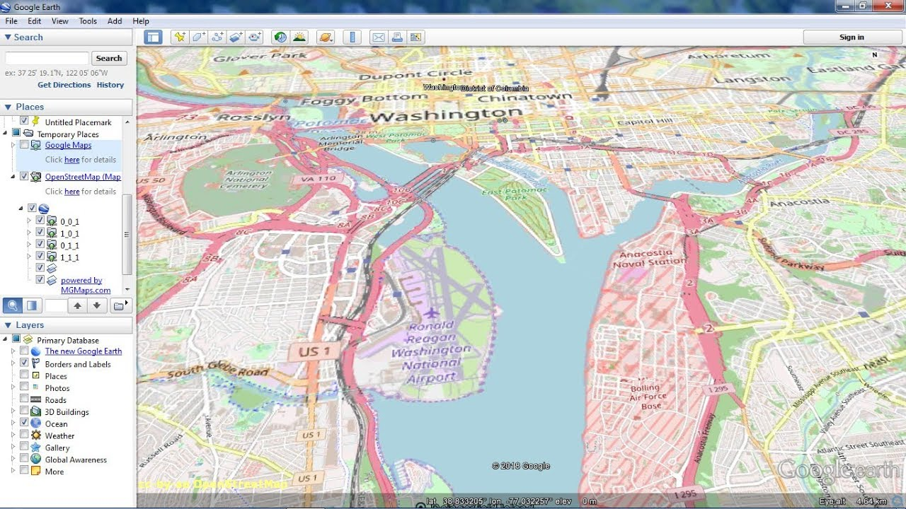 Google Map And Openstreetmap As Overlays In Google Earth Youtube