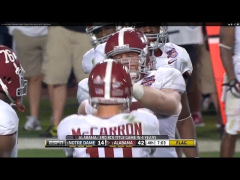 AJ McCarron & Barrett Jones - Shove Then Hug in BCS Title Game