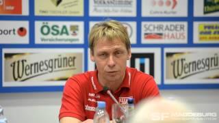 Pressekonferenz - 1. FC Magdeburg gegen Hallescher FC 3:5 n.E. - www.sportfotos-md.de