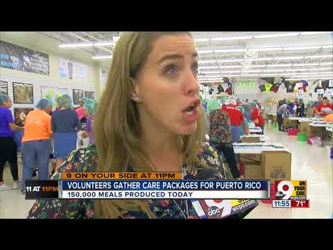 Volunteers pack 150K+ meals for Puerto Rico
