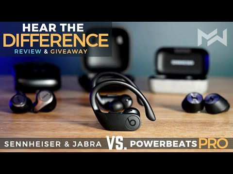 Showdown Powerbeats Pro Vs Jabra Elite 65t Sennheiser Momentum True Wireless Earbuds Youtube