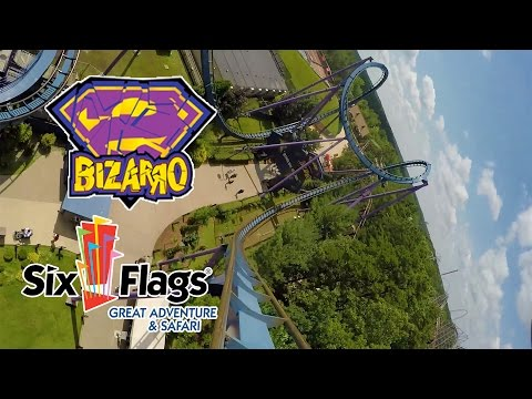 Bizarro Roller Coaster 60 FPS POV Six Flags Great Adventure New Jersey