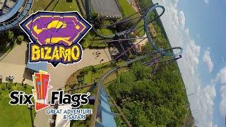 Bizarro Roller Coaster 60 FPS POV Six Flags Great Adventure New Jersey