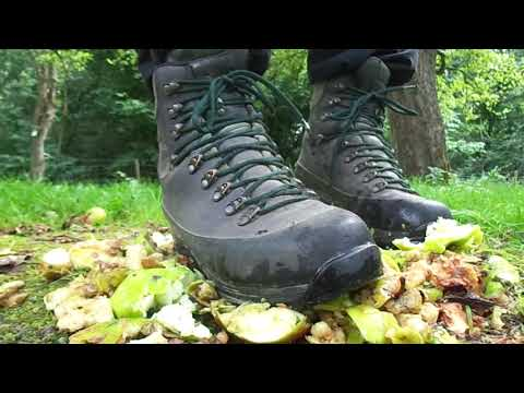 Lowa Hiking Boots food trample, stomp and destroy apples