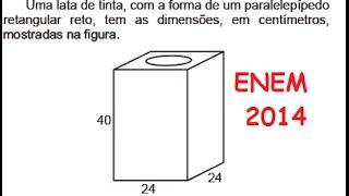 ENEM 2014 2015 QUESTÃO 168 PROVA CINZA RESOLVIDA DE MATEMÁTICA