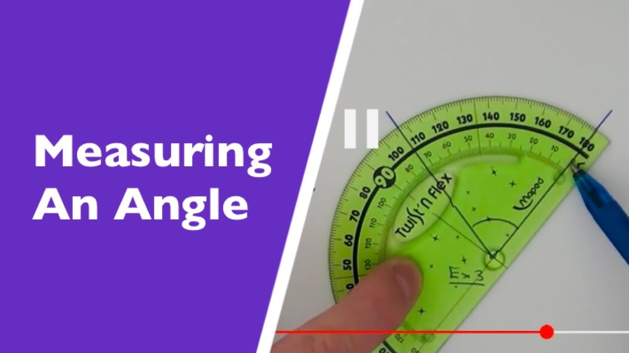 medium resolution of how to measure an angle using a protractor 0 to 180 degree angle measurer youtube