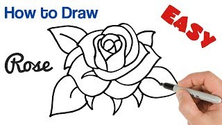 How to Draw a Rose Super Easy Art Tutorial Step by Step for Beginners