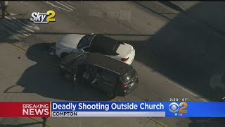 1 Dead, 2 Wounded In Shooting Outside Compton Church