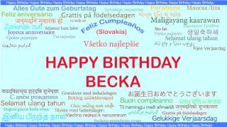 Becka   Languages Idiomas - Happy Birthday