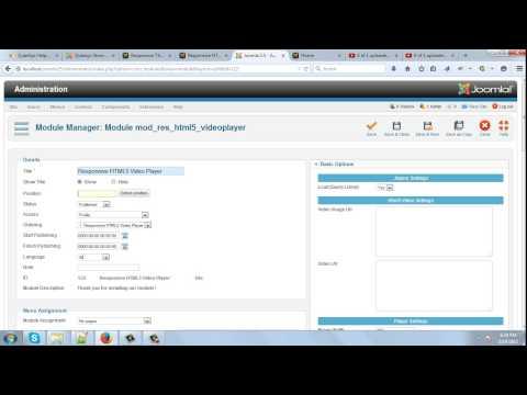 Responsive HTML5 Video Player New Joomla Module