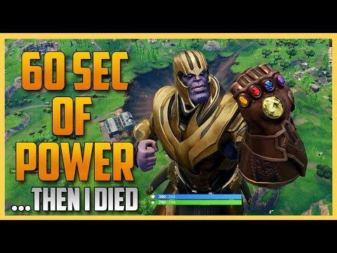 I Became Thanos In Fortnite ... Then I Died. ( Infinity Gauntlet Mode ) | Swiftor