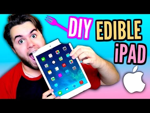 DIY Edible iPad! | EAT Apple Products! | How To Make Chocolate Mac Tablet!