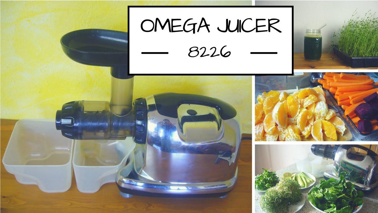 omega juicer 8226 gesunde s fte fruchtmuse und eis herstellen youtube. Black Bedroom Furniture Sets. Home Design Ideas
