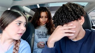 TEACHING MY LIL SISTER HOW TO DRIVE!! *BAD IDEA*