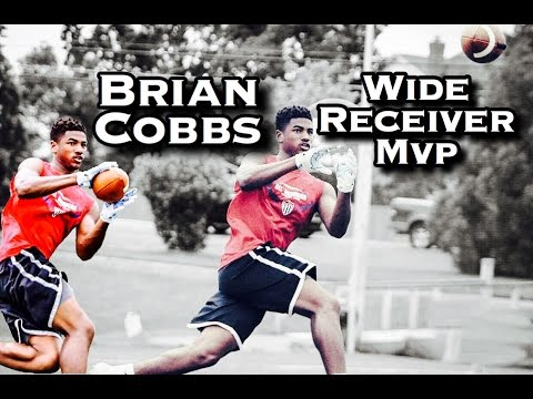 All American Football Camp   Brian Cobbs Wide Reciver MVP