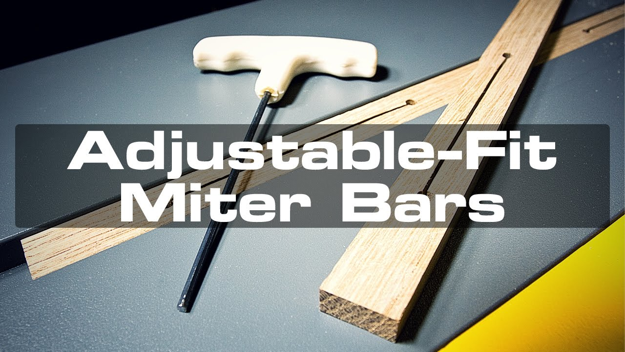 Making Adjustable Fit Miter Bars For A Crosscut Sled