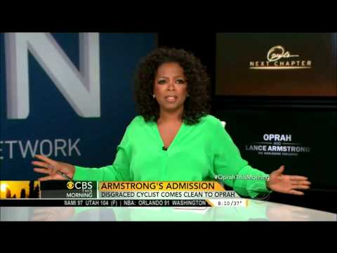 Oprah about Armstrong Interview CBS This Morning