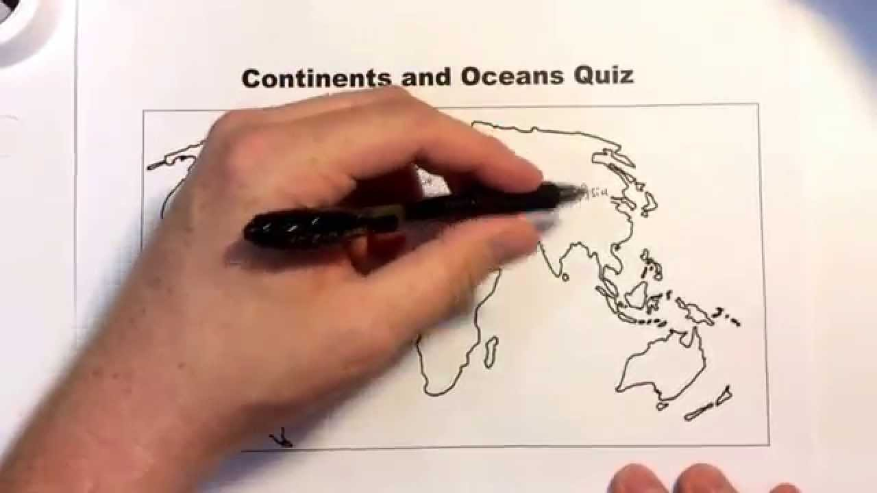 Continents and Oceans Quiz for class. - YouTube