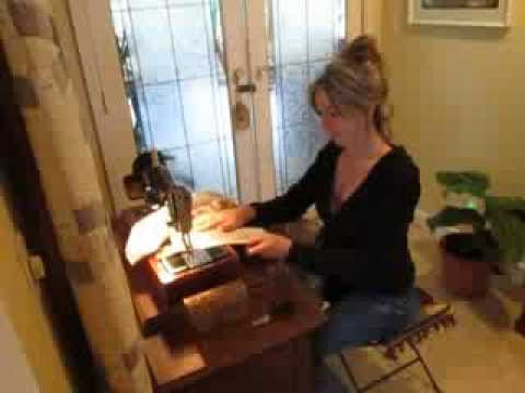 Making Drapes Using a Vintage Singer Sewing Machine