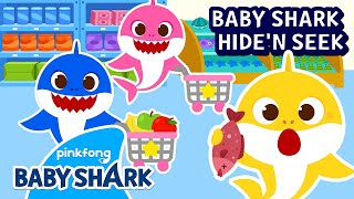 Supermarket Hide and Seek with the Shark Family   Play with Baby Shark   Baby Shark Official