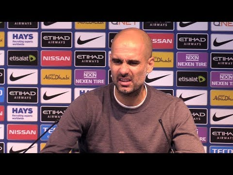 Manchester City 7-2 Stoke - Pep Guardiola Post Match Press Conference - Embargo Extras