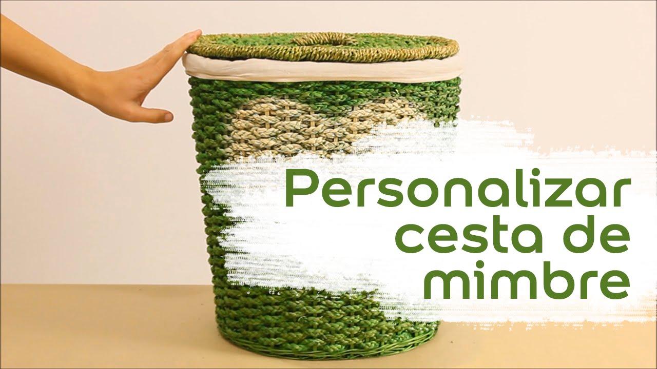 V deo tutorial personalizar cesta de mimbre bruguer - Como forrar una cesta de mimbre ...