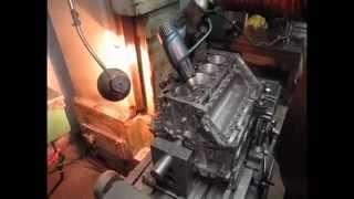 Гильзовка блока BMW M60 с жидким азотом