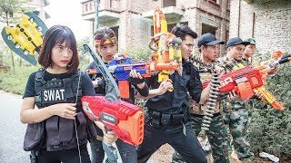 LTT Nerf War : SEAL X Warriors Nerf Guns N-Strike Fight Attack Dangerous Criminals Group